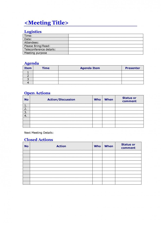 008 Top Meeting Agenda Template Word Image  Microsoft Board 2010 Example960