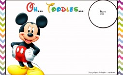 008 Top Mickey Mouse Invitation Template Picture  Templates Clubhouse Birthday Free 1st Download