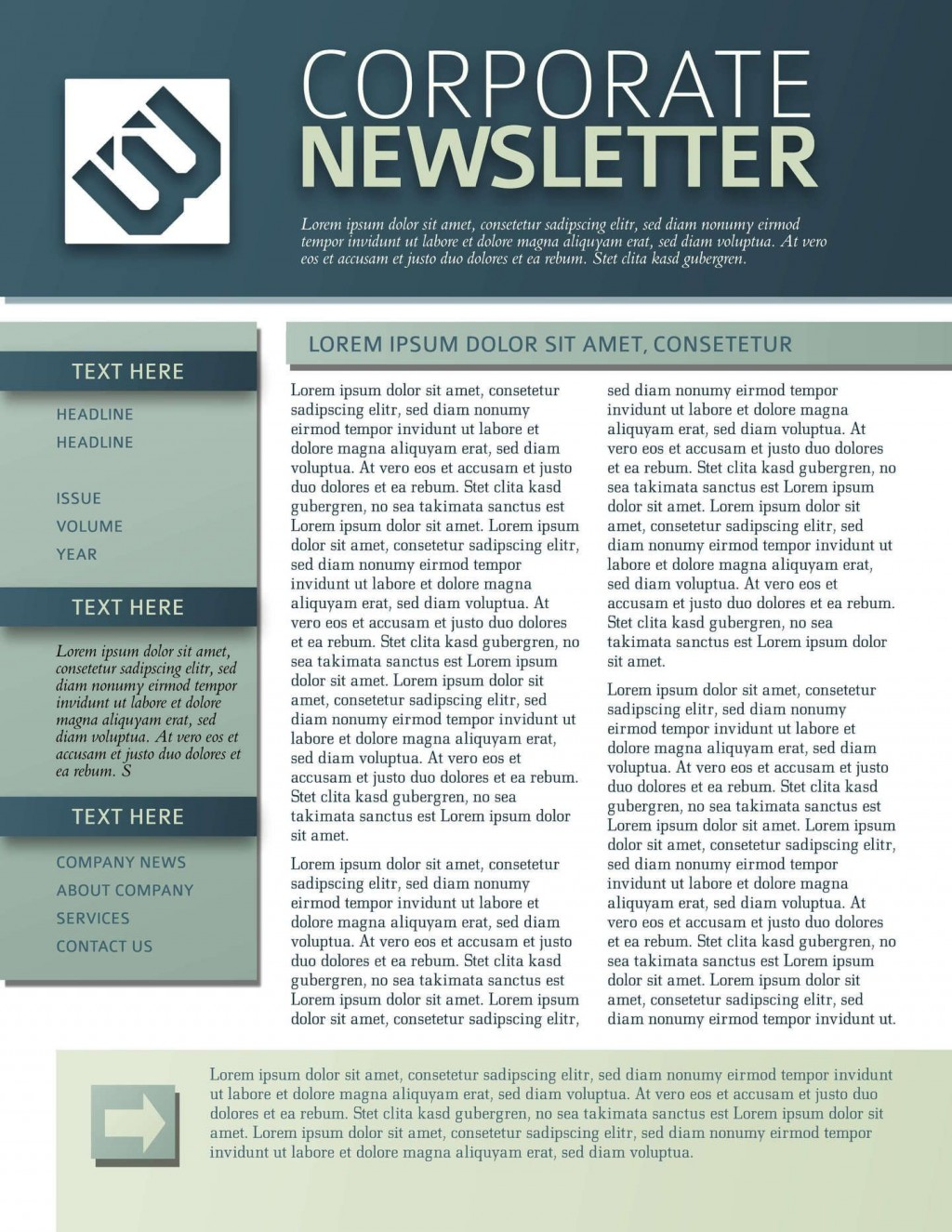 008 Top One Page Newsletter Template Picture  Free Download WordLarge