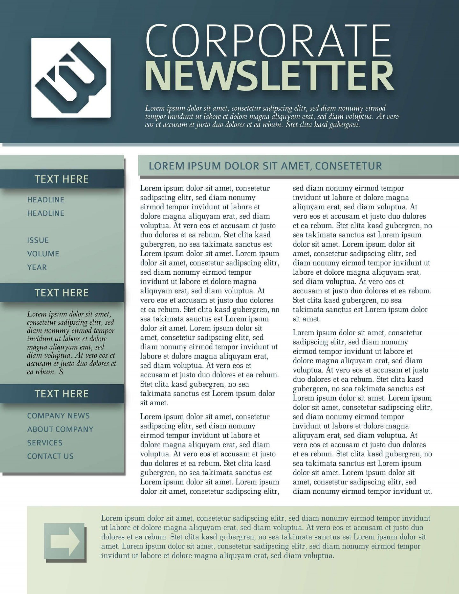 008 Top One Page Newsletter Template Picture  Free Download Word1920