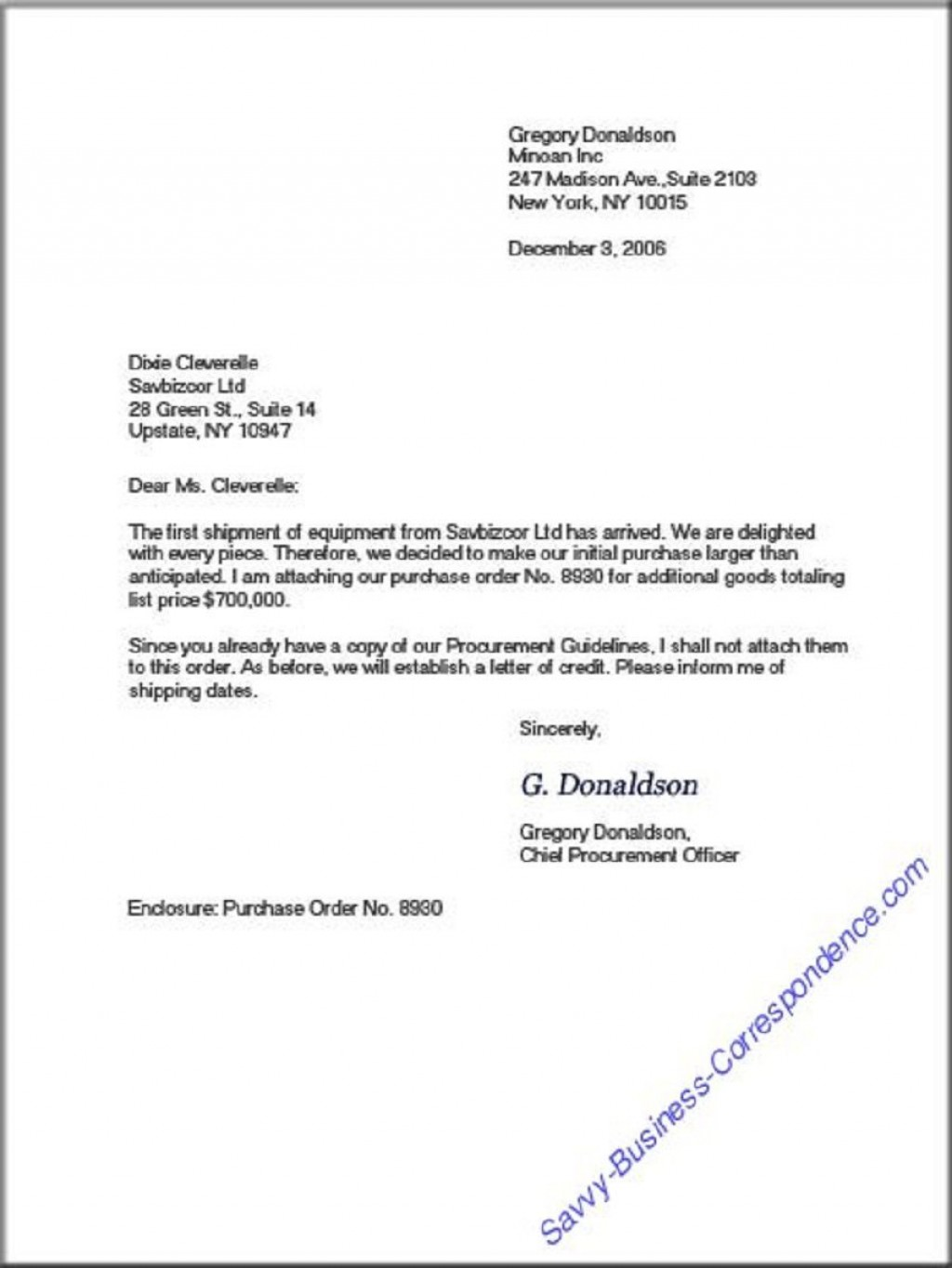008 Top Sample Busines Letter Template Highest Clarity  Of Intent Formal FreeLarge