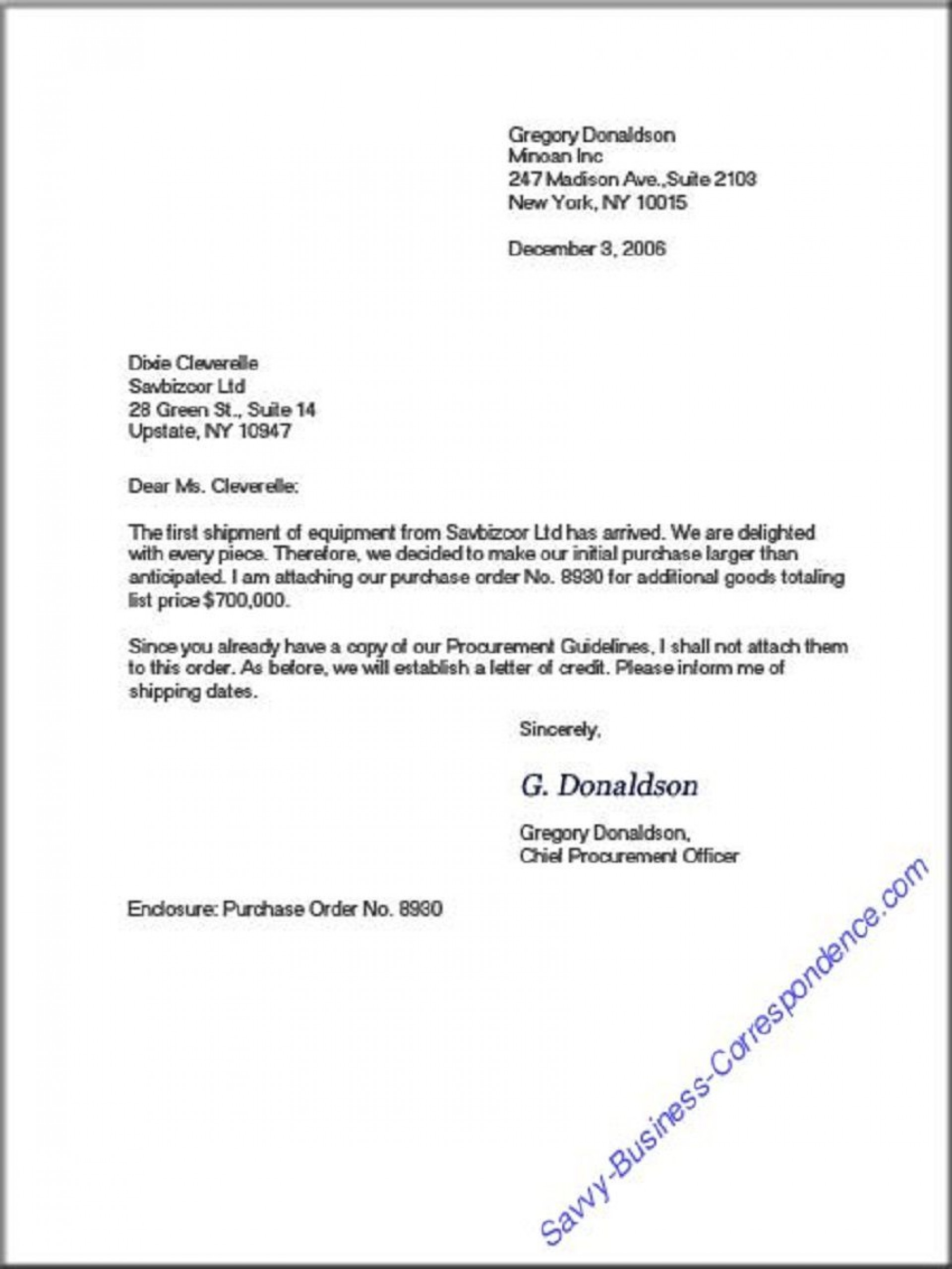 008 Top Sample Busines Letter Template Highest Clarity  Of Intent Formal Free1920