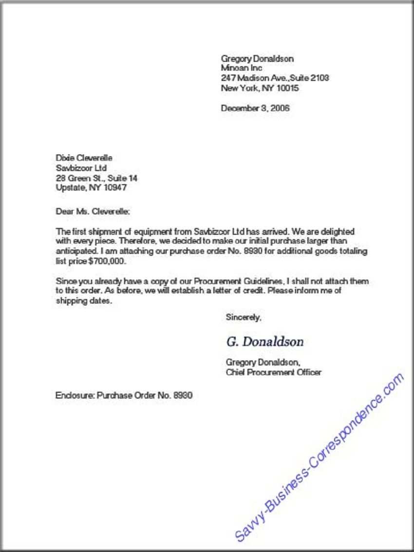 008 Top Sample Busines Letter Template Highest Clarity  Of Intent Formal FreeFull