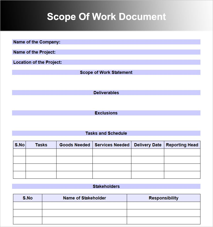 008 Top Scope Of Work Template Microsoft Word Picture Full
