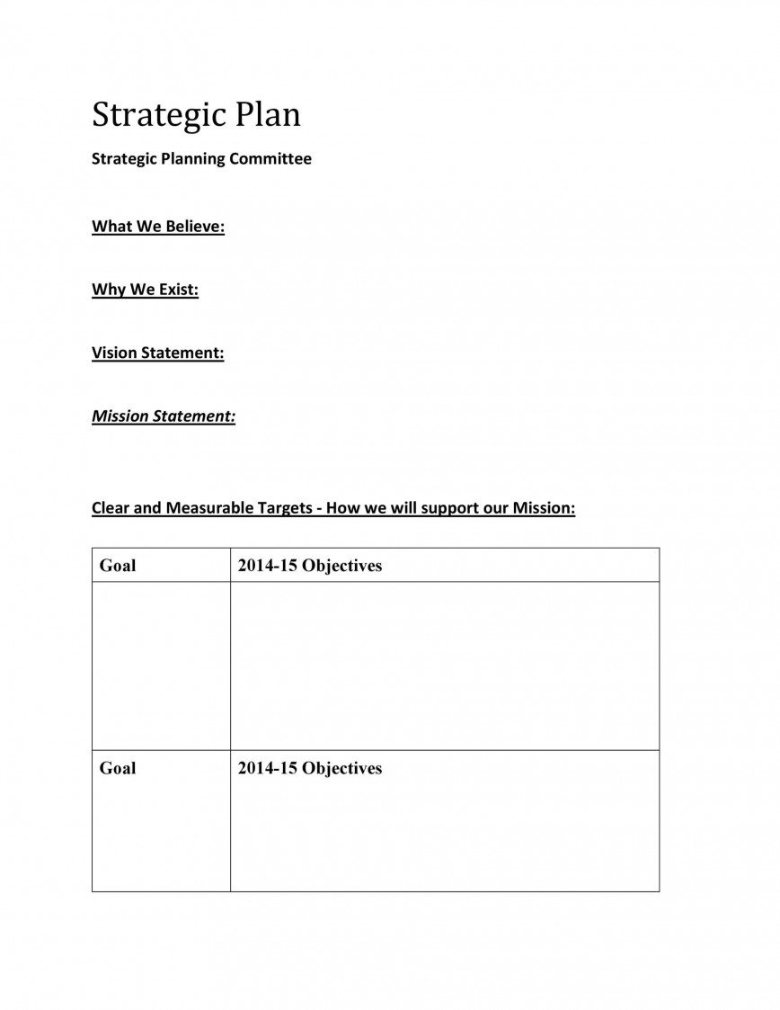 008 Top Strategic Plan Template Word Image  Example Free Account Document