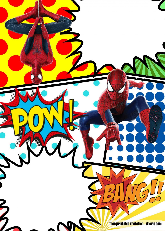 008 Top Superhero Birthday Party Invitation Template Free Image  InviteLarge