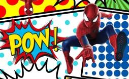 008 Top Superhero Birthday Party Invitation Template Free Image  Invite