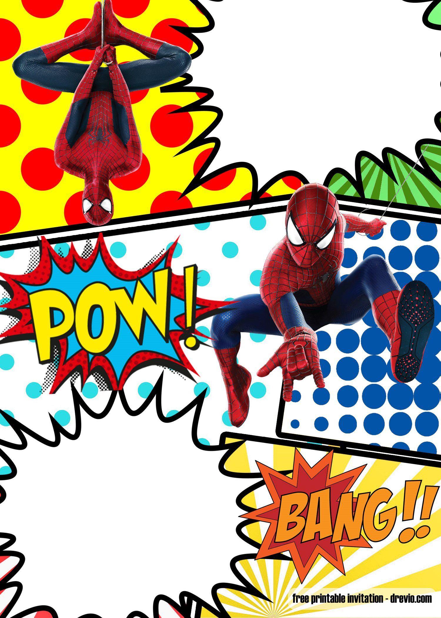 008 Top Superhero Birthday Party Invitation Template Free Image  InviteFull