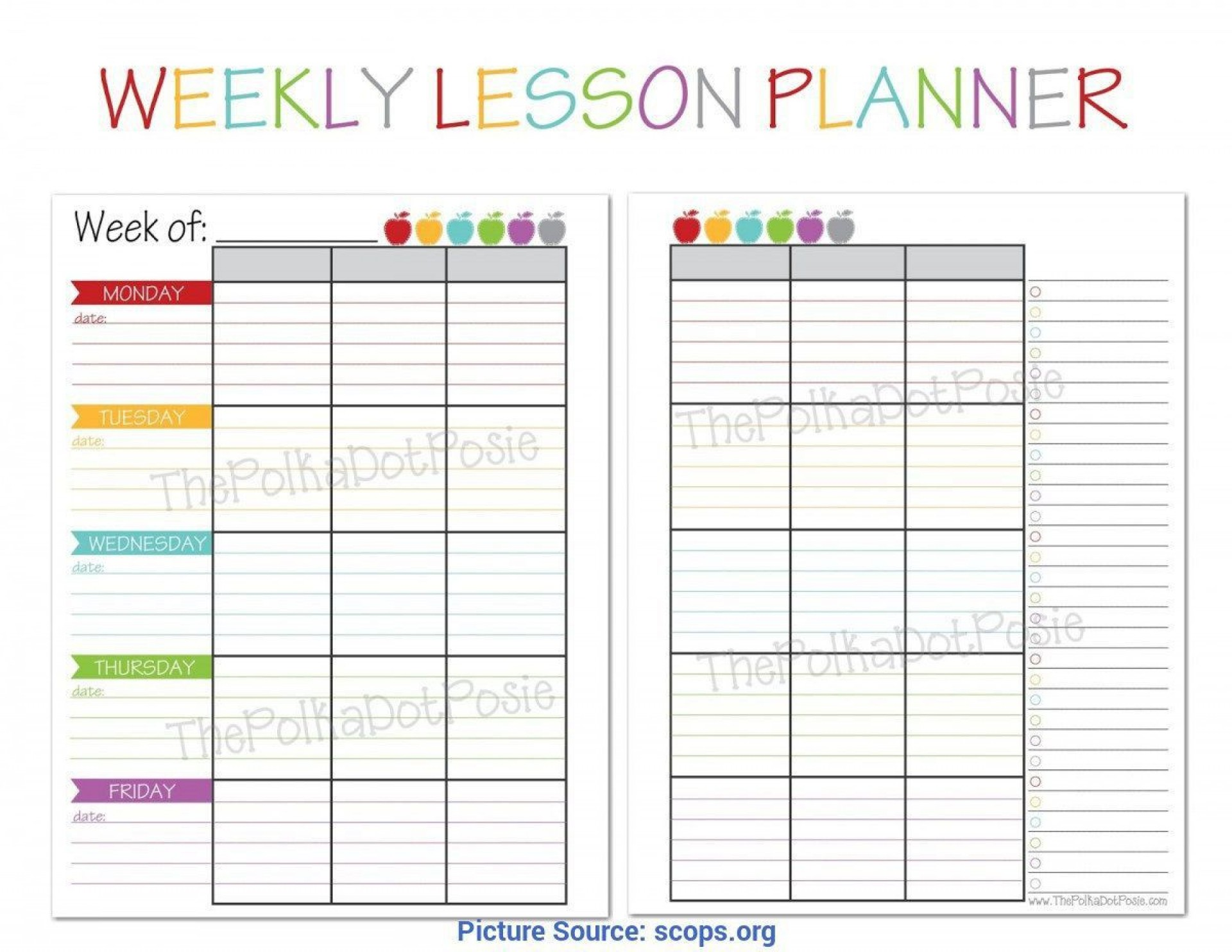 008 Top Weekly Lesson Plan Template High School Def  Free Example For English Pdf Of Junior1920