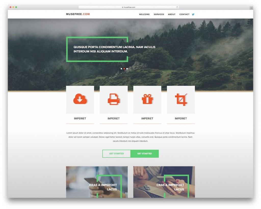 008 Unbelievable Adobe Muse Template Free Image  2019 Ecommerce Download ParallaxLarge