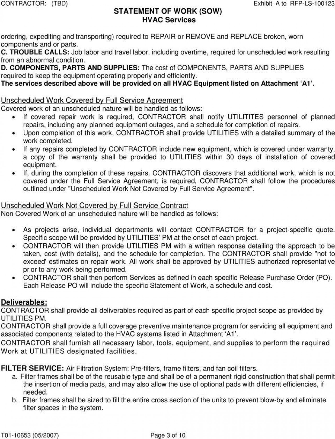 008 Unbelievable Commercial Hvac Service Agreement Template High Resolution  Maintenance Contract1400