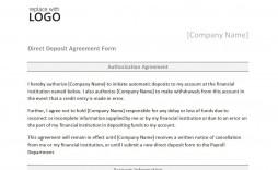 008 Unbelievable Direct Deposit Agreement Authorization Form Template Photo