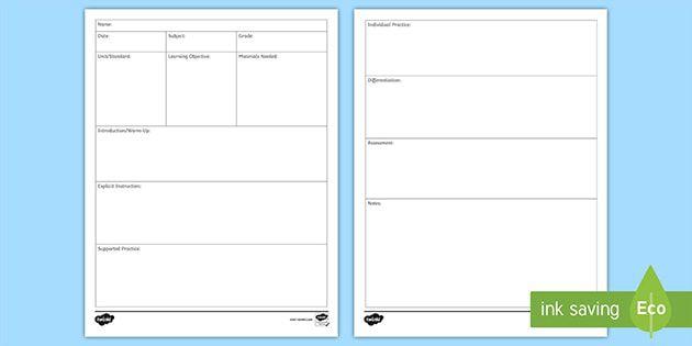 008 Unbelievable Editable Lesson Plan Template Kindergarten Image  FreeFull