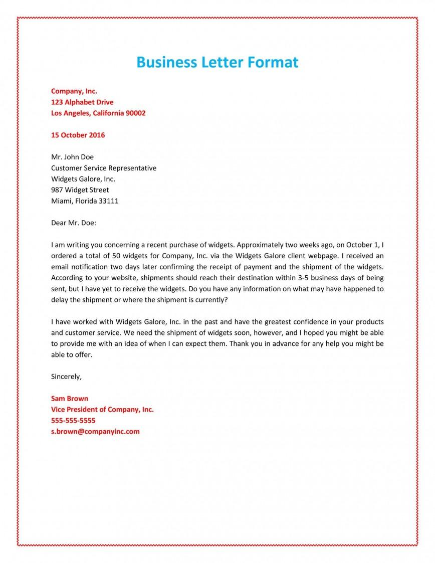 008 Unbelievable Formal Busines Letter Template Highest Quality  Format Word Australia