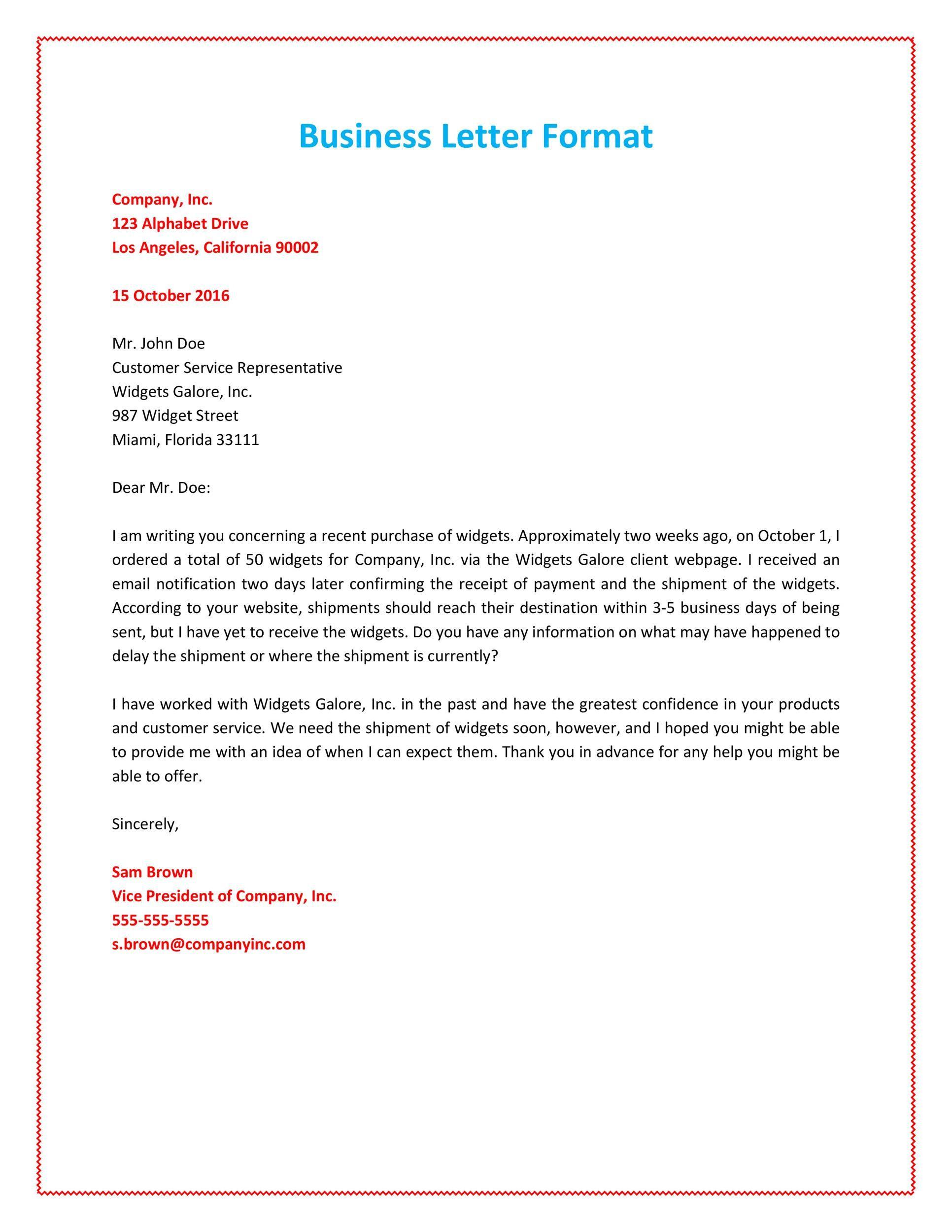 008 Unbelievable Formal Busines Letter Template Highest Quality  Pdf Australia FormatFull