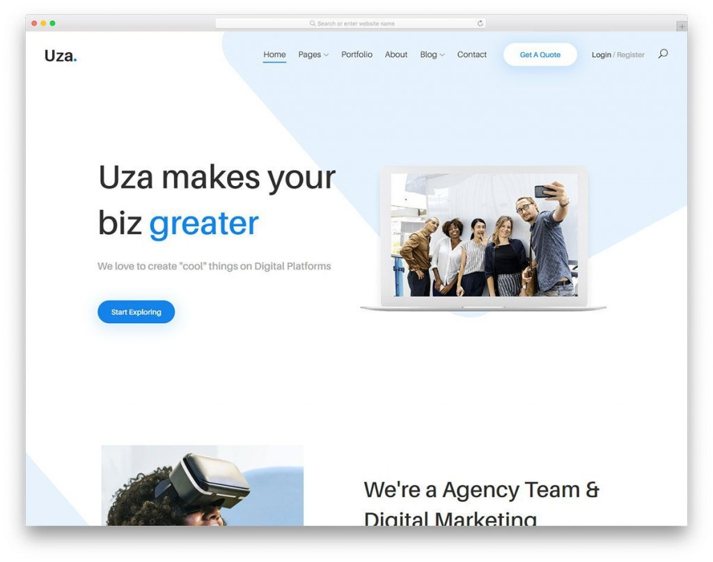 008 Unbelievable Free Busines Website Template Download Html And Cs Jquery High Resolution  Responsive For It CompanyLarge