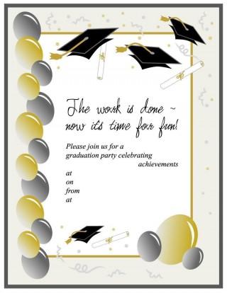 008 Unbelievable Free Graduation Invitation Template Printable Image  Kindergarten Party Card320