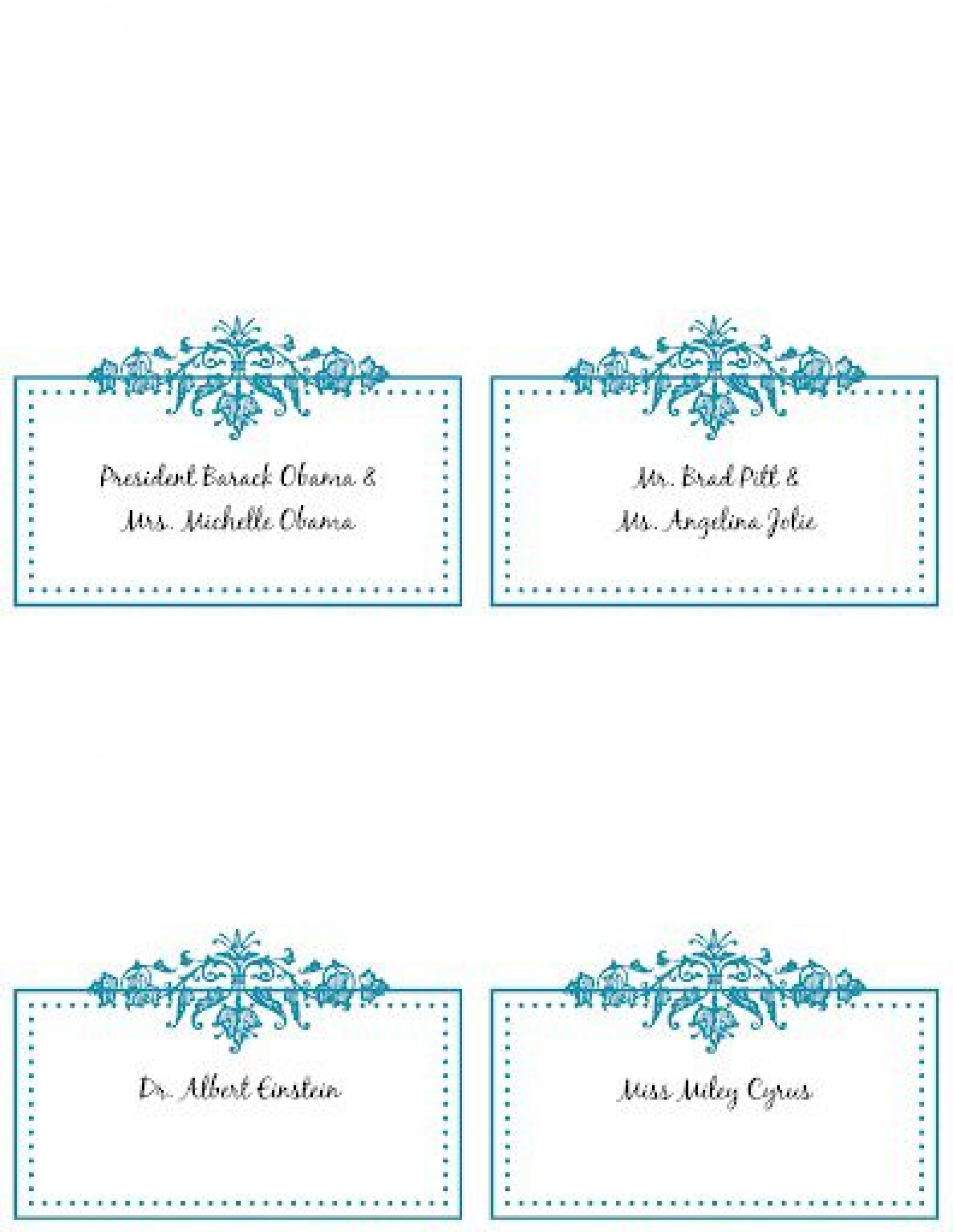 008 Unbelievable Free Printable Place Card Template Idea  Blank Wedding Christma Table1920