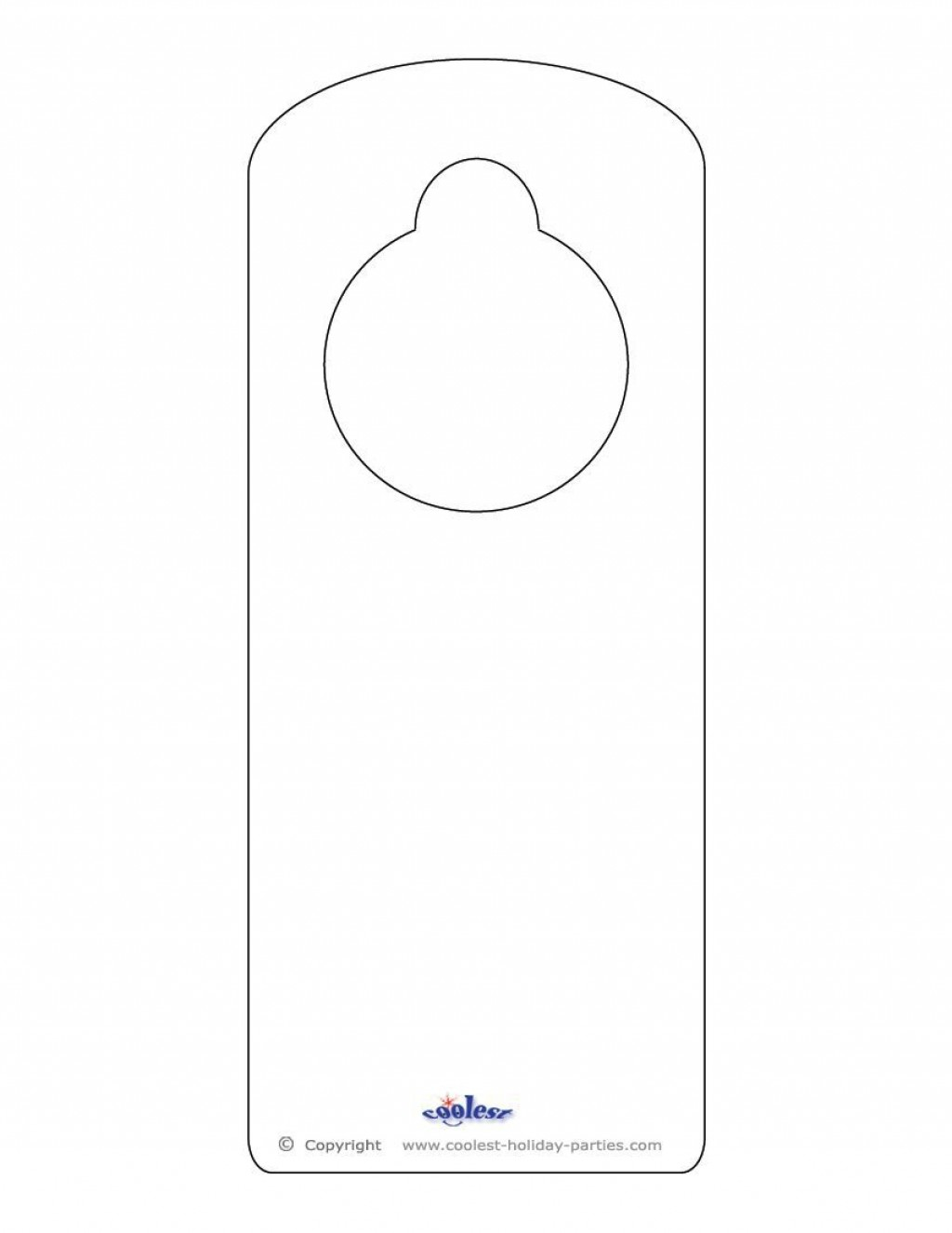 008 Unbelievable Free Printable Template For Door Hanger High Definition Large