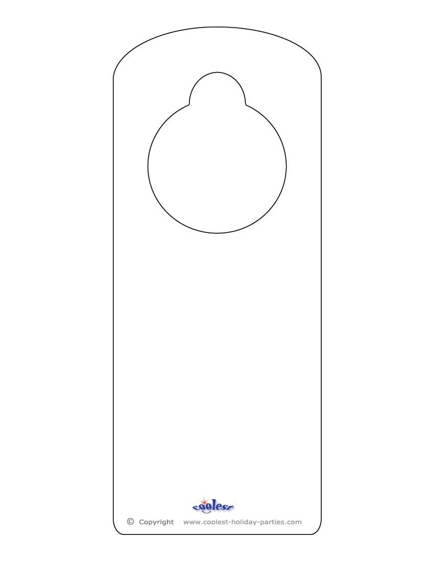 008 Unbelievable Free Printable Template For Door Hanger High Definition Full
