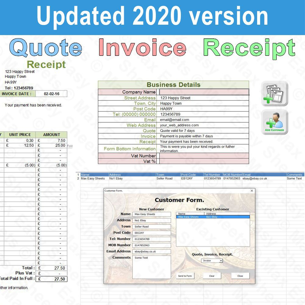 008 Unbelievable Free Uk Vat Invoice Template Excel High Def Full