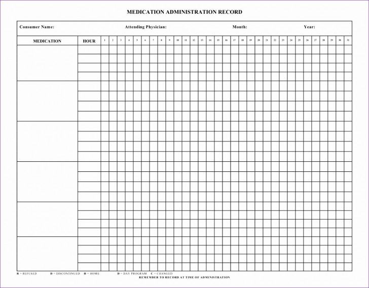 008 Unbelievable Medication Administration Record Form Download Inspiration 728