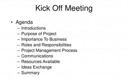 008 Unbelievable Project Management Kick Off Meeting Agenda Template Design  Kickoff