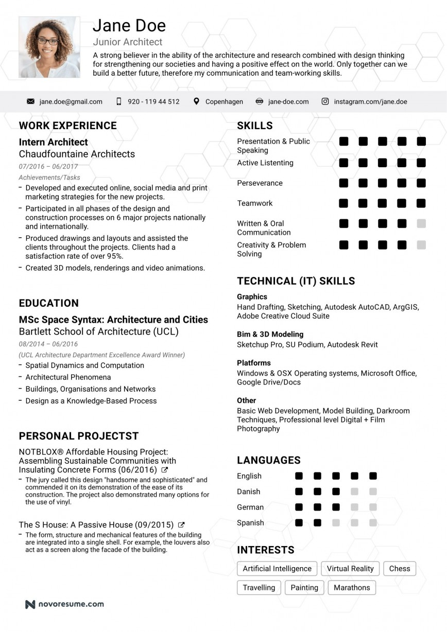 008 Unbelievable Simple Job Resume Template Photo  Templates Free Download