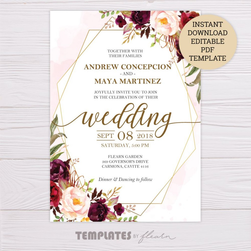 008 Unbelievable Wedding Invitation Template Word Highest Quality  Invite Wording Uk Anniversary Microsoft Free MarriageLarge