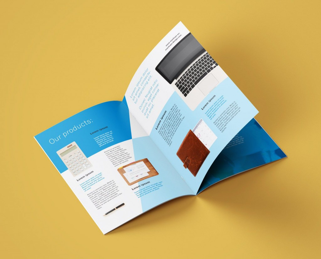 008 Unforgettable A4 Brochure Template Psd Free Download Photo  Tri Fold BifoldLarge