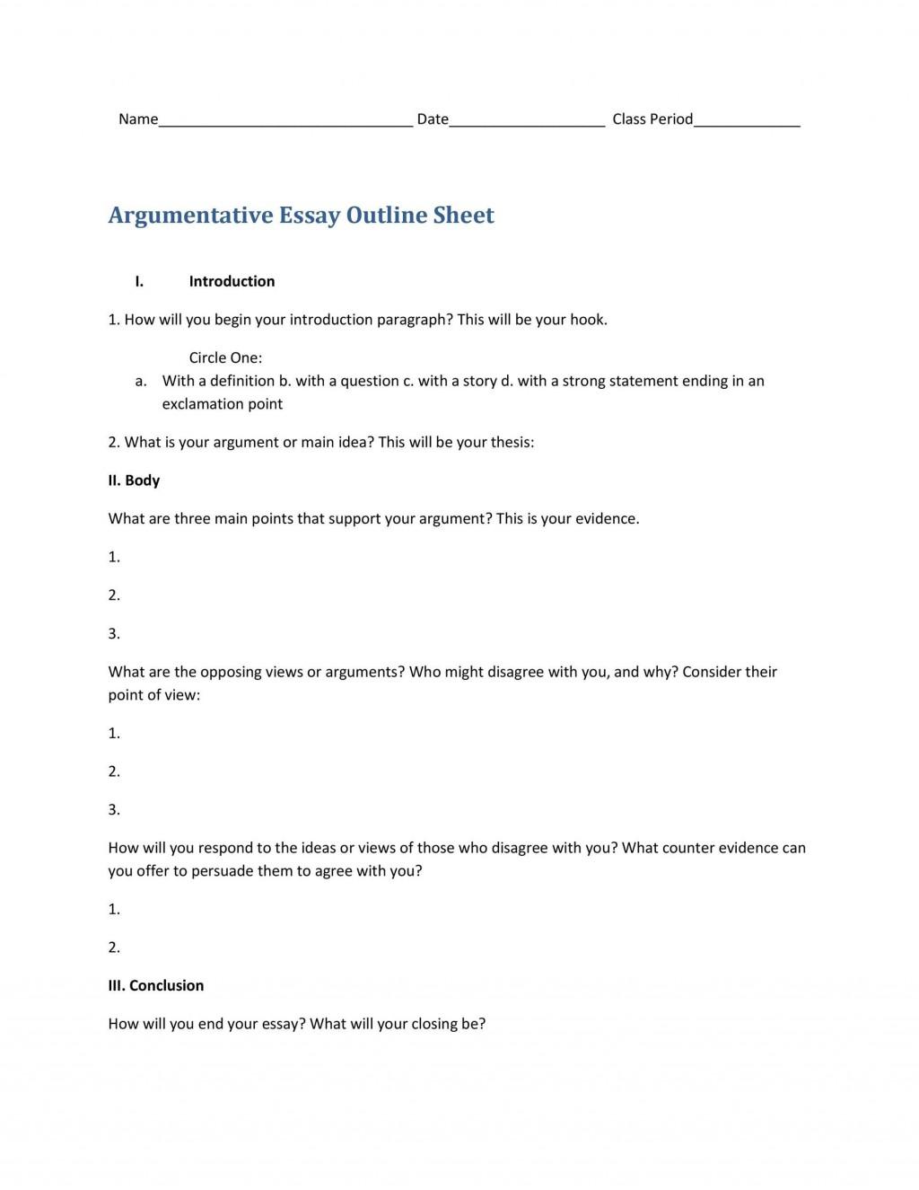 008 Unforgettable Argumentative Essay Outline Template High Def  Mla Format Doc Middle SchoolLarge