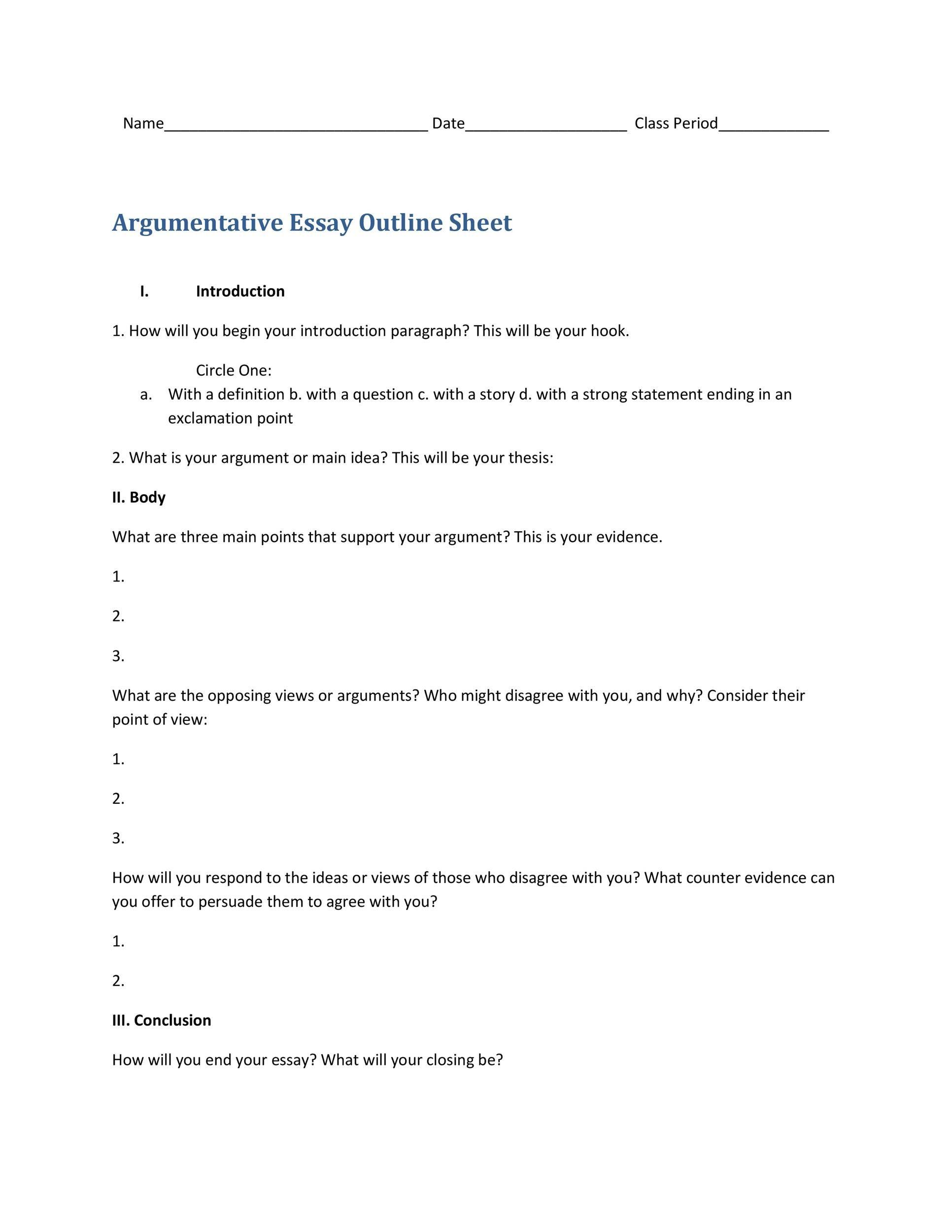 008 Unforgettable Argumentative Essay Outline Template High Def  Mla Format Doc Middle SchoolFull