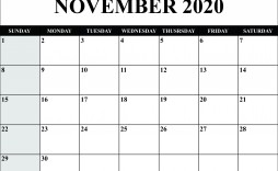 008 Unforgettable Calendar 2020 Template Word Sample  Monthly Doc Free Download
