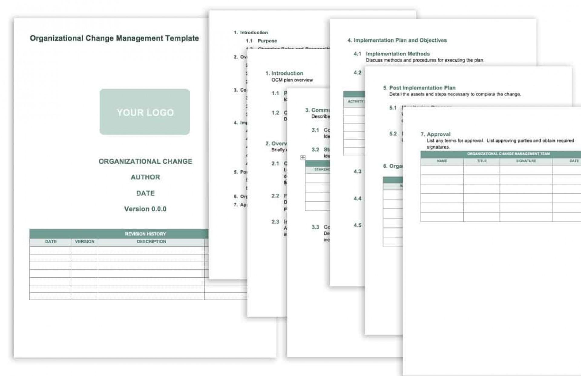 008 Unforgettable Change Management Proces Template Design 1920