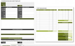 008 Unforgettable Contractor Bid Sheet Template Highest Clarity  General Electrical