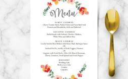 008 Unforgettable Diy Wedding Menu Template Idea  Free Card