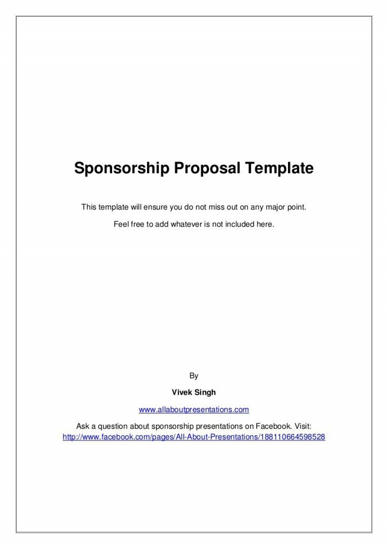 008 Unforgettable Event Sponsorship Proposal Sample Pdf  For Letter Music TemplateLarge