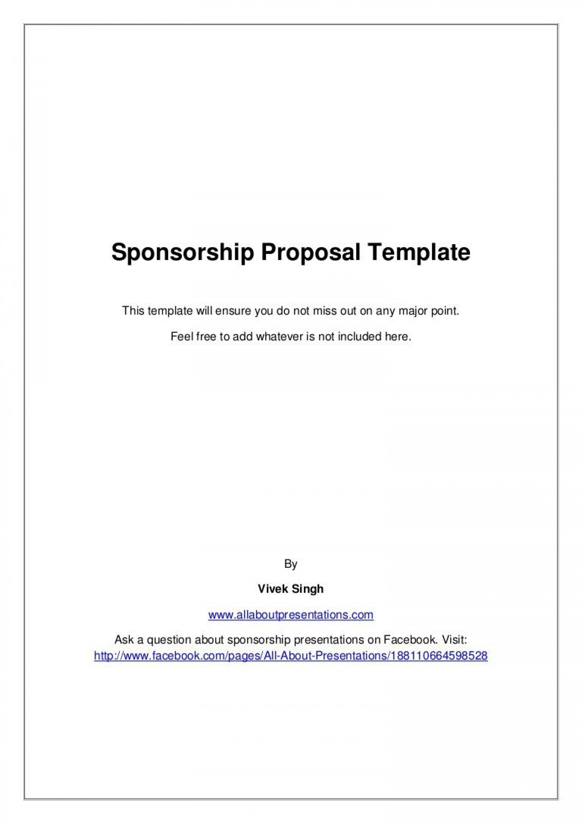 008 Unforgettable Event Sponsorship Proposal Sample Pdf  For Letter Music Template1920