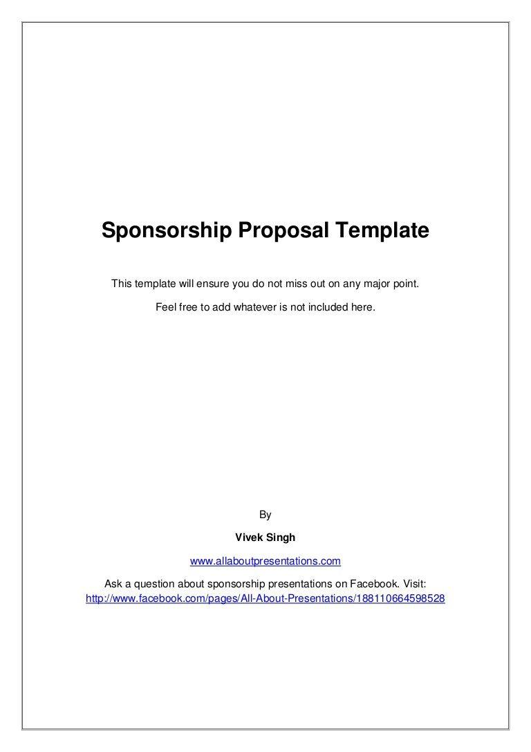 008 Unforgettable Event Sponsorship Proposal Sample Pdf  For Letter Music TemplateFull