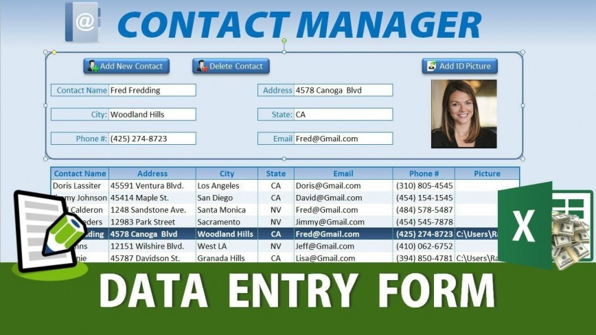 008 Unforgettable Excel Data Entry Form Template Idea  Free Download Example Pdf868