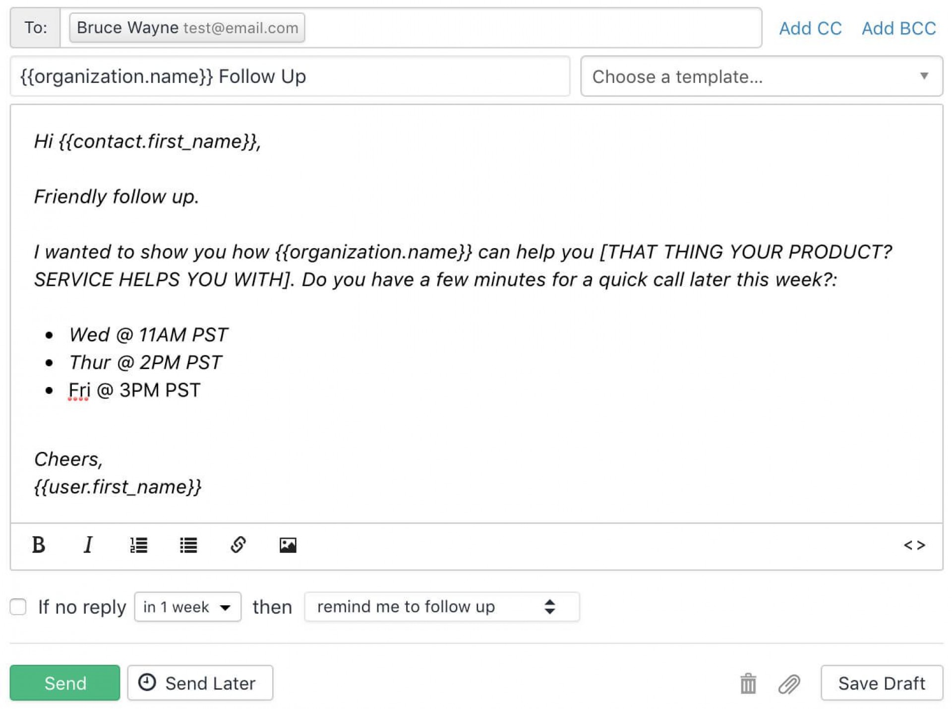 008 Unforgettable Follow Up Email Template After No Response Sample 1920