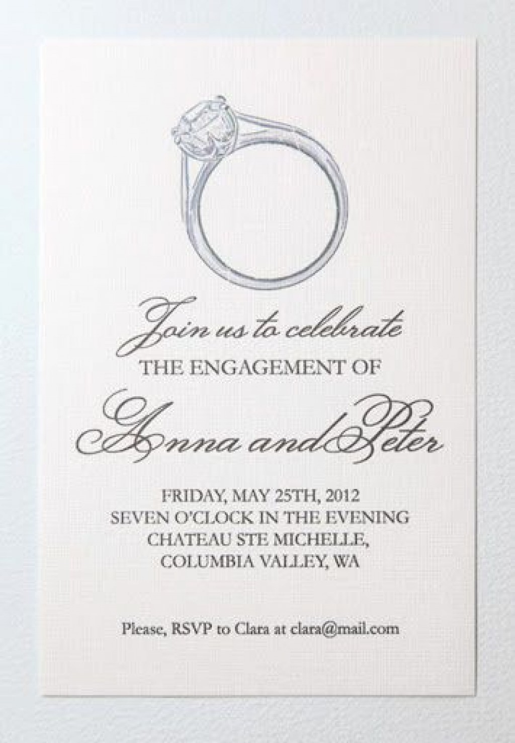 008 Unforgettable Free Engagement Invitation Template Online With Photo Highest Clarity Large