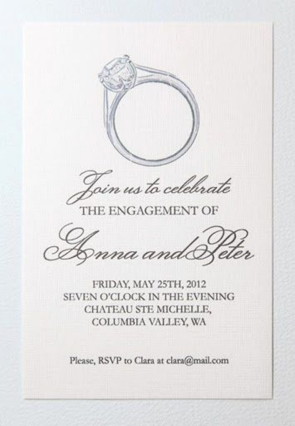 008 Unforgettable Free Engagement Invitation Template Online With Photo Highest Clarity 960