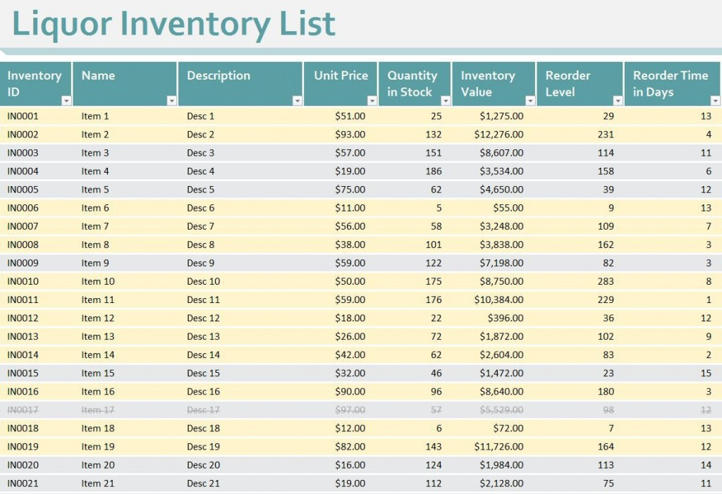 008 Unforgettable Free Liquor Inventory Spreadsheet Template Excel Image Large
