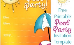 008 Unforgettable Free Pool Party Invitation Template Printable Idea  Card Summer