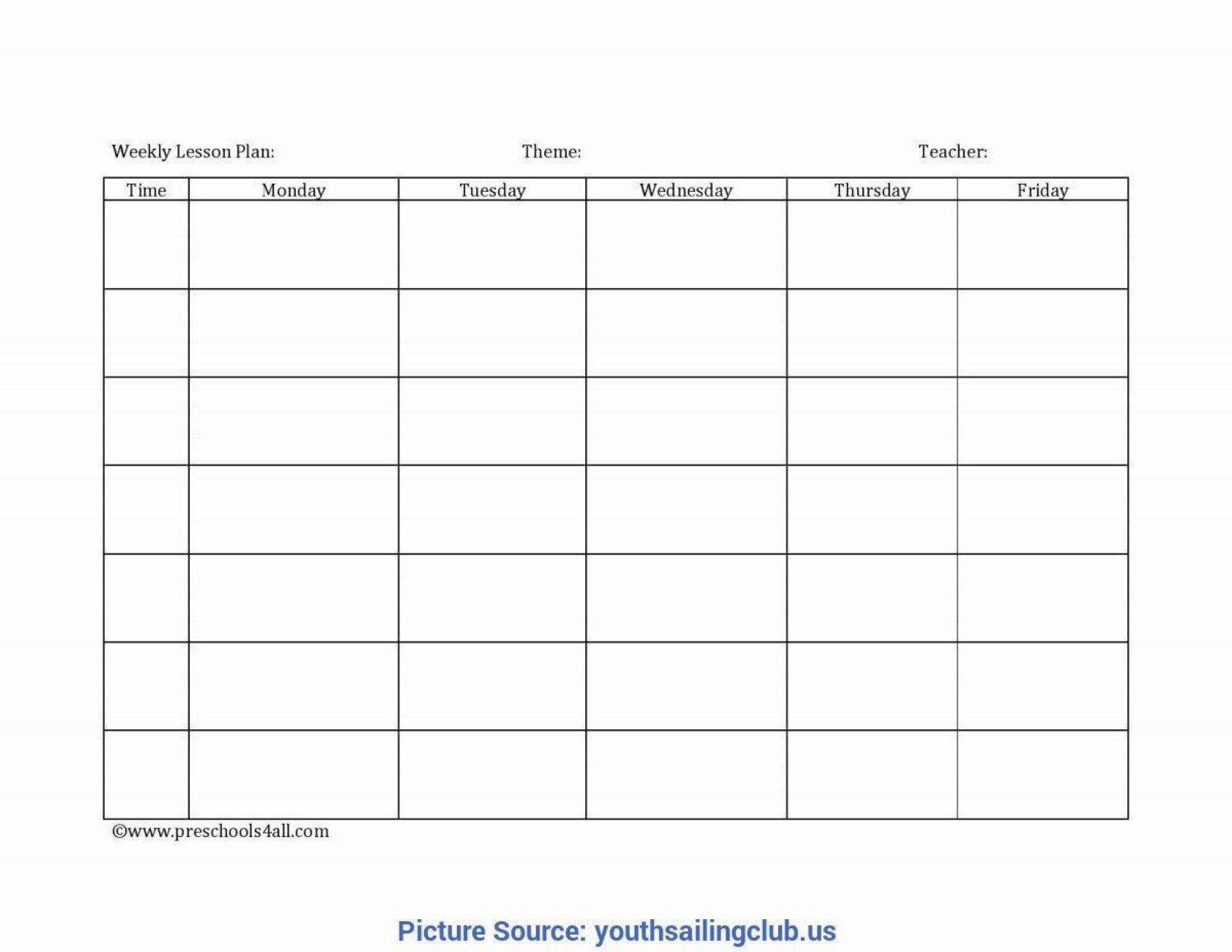 008 Unforgettable Free Printable Preschool Weekly Lesson Plan Template Photo  Kindergarten1920