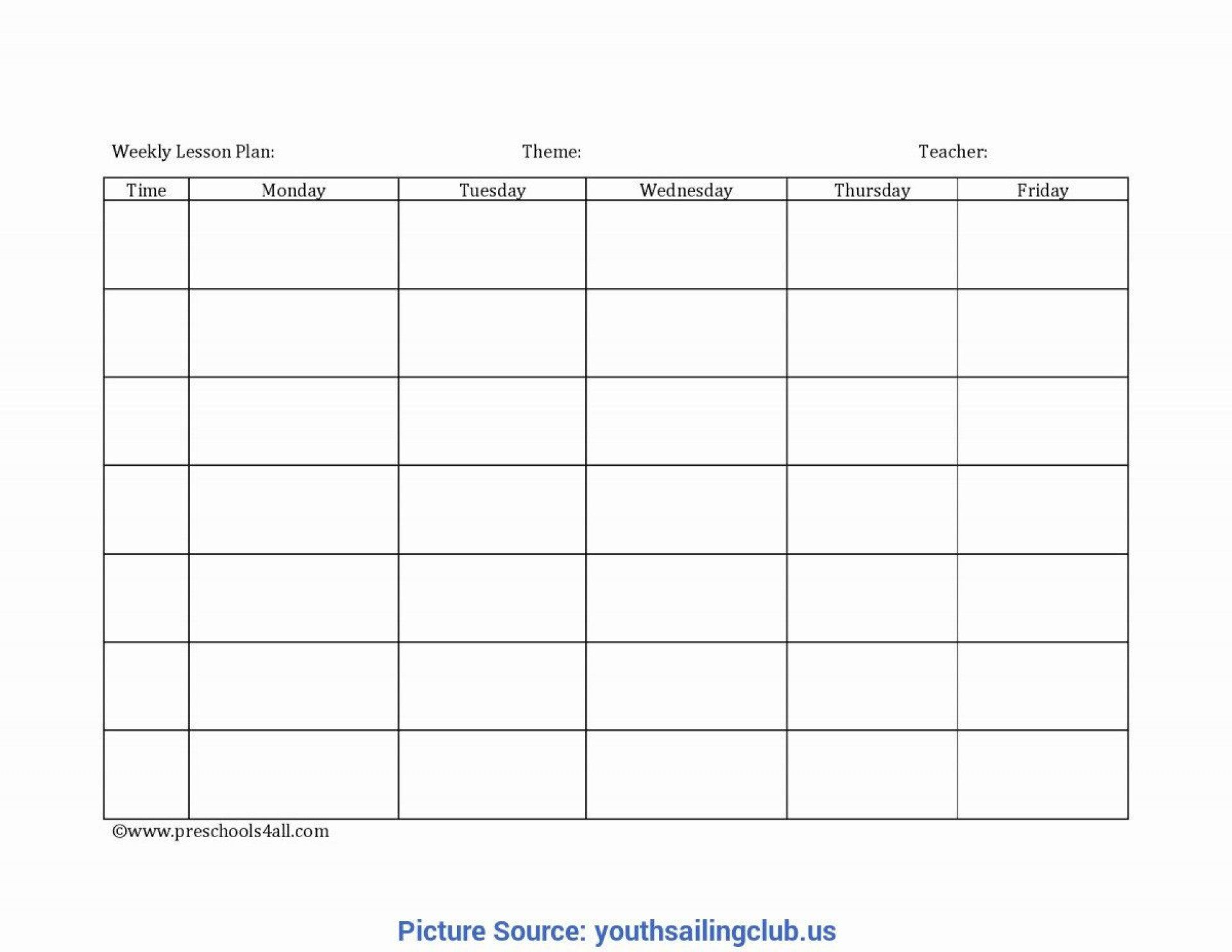 008 Unforgettable Free Printable Preschool Weekly Lesson Plan Template Photo  KindergartenFull