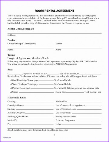 008 Unforgettable Generic Rental Lease Agreement Md Sample  Maryland360