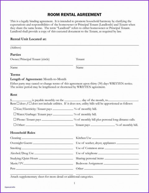 008 Unforgettable Generic Rental Lease Agreement Md Sample  Maryland480