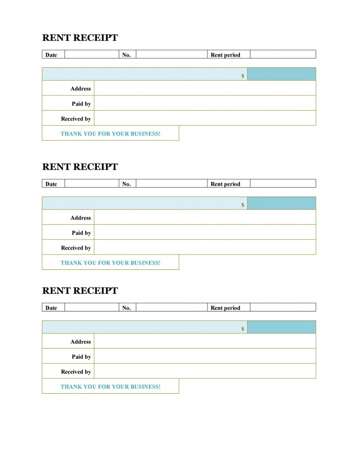 008 Unforgettable House Rent Receipt Template India Doc Sample  Format Download728